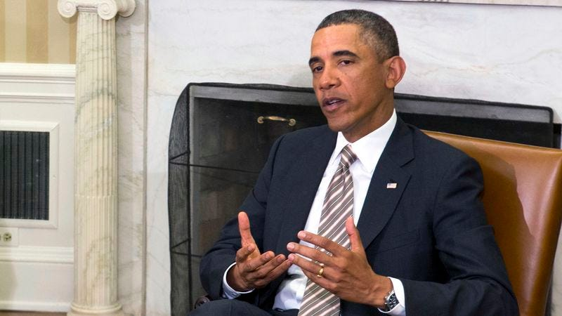 The president meets with the nation's 2.5 million displaced schizophrenic voices.