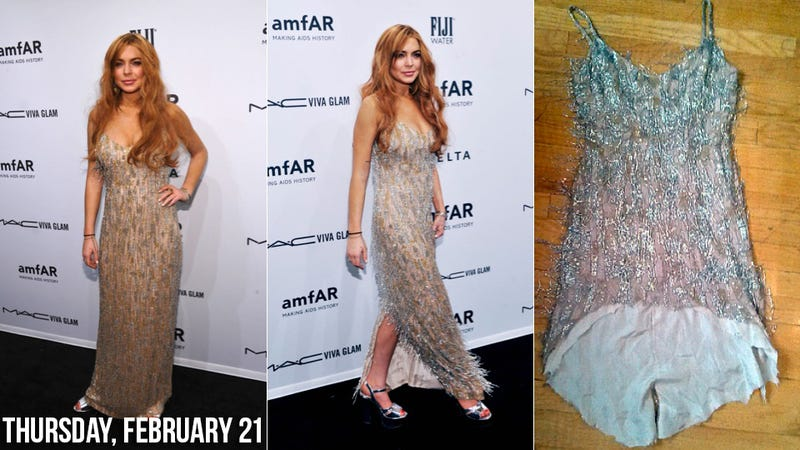 Illustration for article titled Lindsay Lohan Borrows Designer Dress, Unsurprisingly Returns It in Shreds