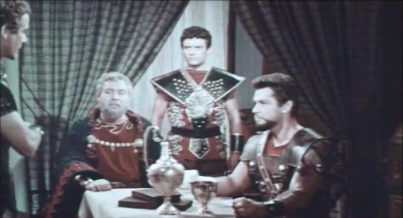 Contemporaneous depiction of ancient Romans discussing economic problems via