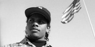 Eazy-E in 1990 (via Egotripland; courtesy of Over the Edge Books/Michael Miller)
