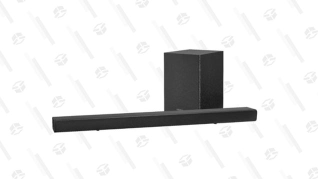 Save $70 on This Insignia Soundbar and Wireless Subwoofer Duo to Upgrade Your Movie Nights