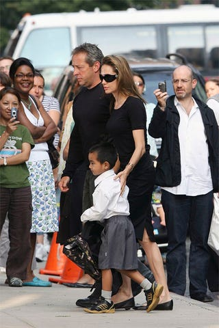 Illustration for article titled Maddox, Mom Angelina Head To Big Kid's School