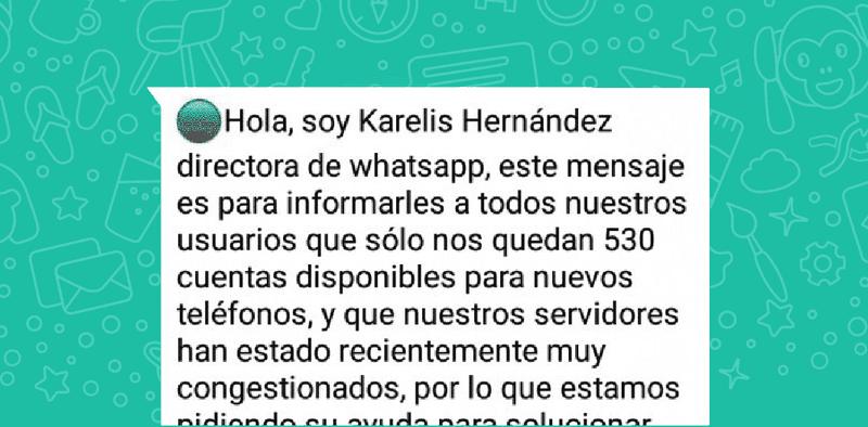 Illustration for article titled WhatsApp está probando una forma de advertir a sus usuarios sobre los falsos mensajes en cadena