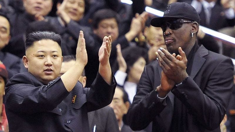 Illustration for article titled Appearance Of Dennis Rodman Most Normal Thing To Happen In North Korea