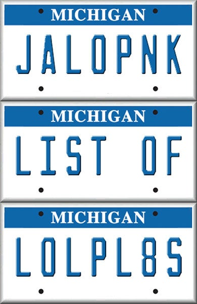 Illustration for article titled 20 More Hilarious Personalized License Plates