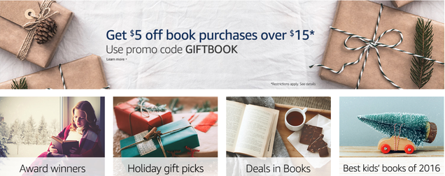 Crack Open A New Book--Any Book--With Amazon's $5 off $15 Sale