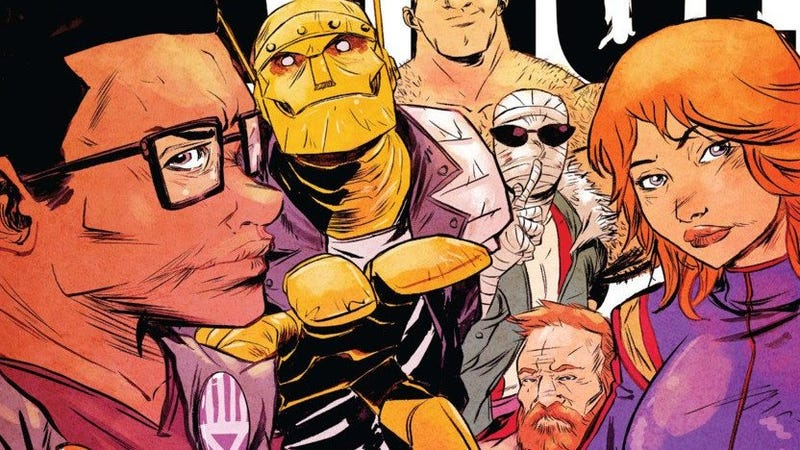 Illustration for article titled The First Look at Live Action Doom Patrol is Kind of Amazing