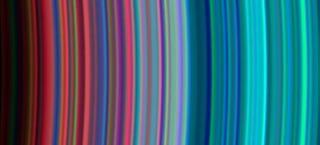 Saturn's Rings as a Cosmic Rainbow