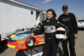 Illustration for article titled Girl Go-Karter Chases Her NASCAR Dreams
