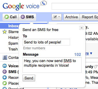 Illustration for article titled Multi-Recipient SMS Comes to Google Voice