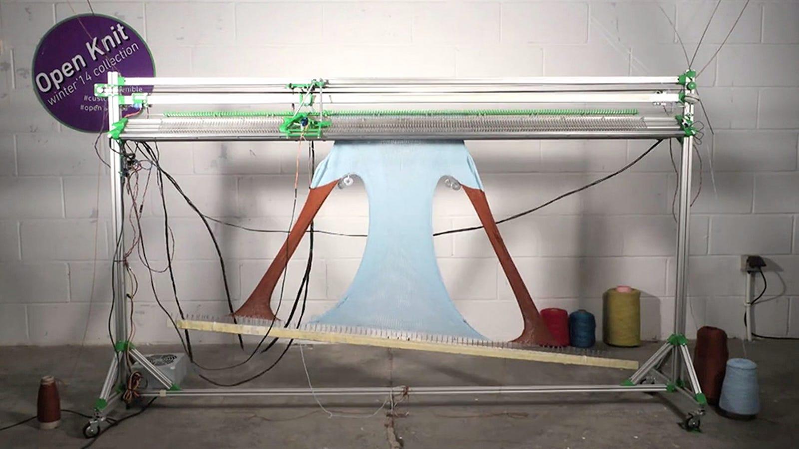 OpenKnit, la máquina que teje ropa a partir de archivos open source