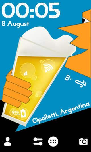 Illustration for article titled The Beer Bubbles Home Screen