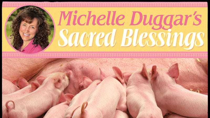 "Illustration for article titled ""Michelle Duggar's Sacred Blessings"" calendar is a pitch-perfect parody"