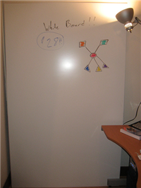 Illustration for article titled Gigantic whiteboards on a budget