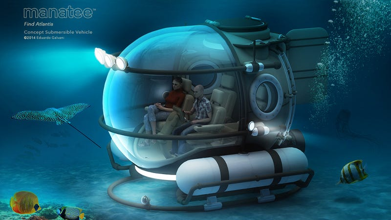 Illustration for article titled This Concept Sub Means That You Could Visit the Deep Ocean