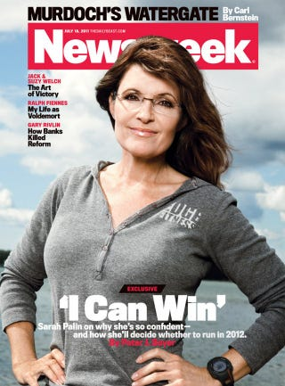 Illustration for article titled Sarah Palin Declares She Can Win on Newsweek Cover