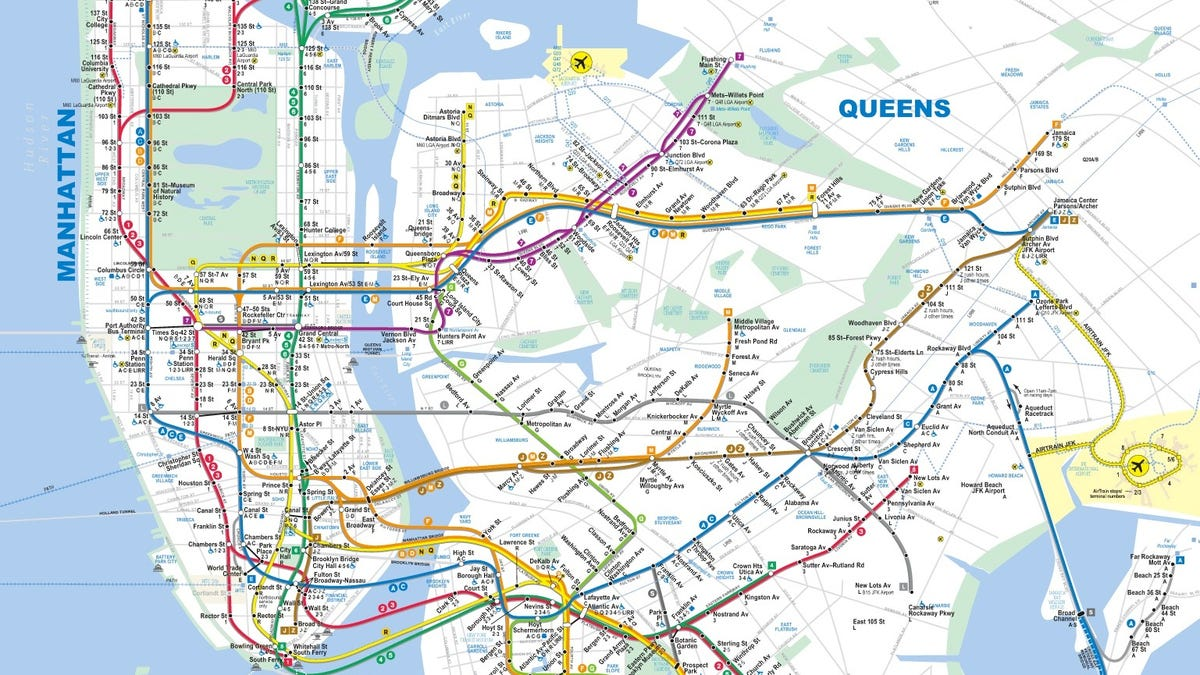Latest Nyc Subway Map.15 Subway Maps That Trace Nyc S Transit History