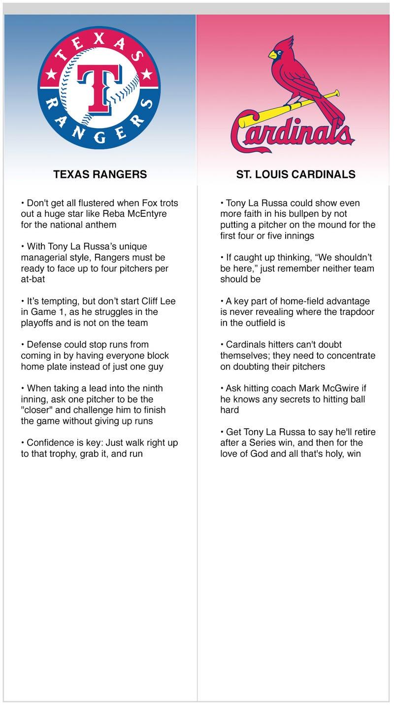Illustration for article titled Rangers vs. Cardinals