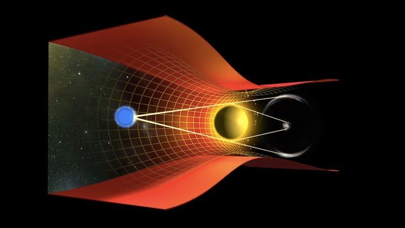 Illustration for article titled How does spacetime get bent?