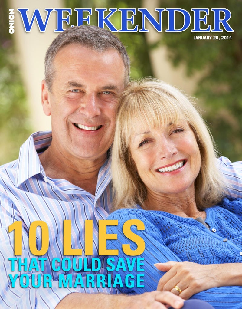 Illustration for article titled 10 Lies That Could Save Your Marriage