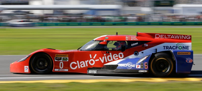 Illustration for article titled NOOOOOO! DeltaWing Retires In Second Hour Of Rolex 24 at Daytona