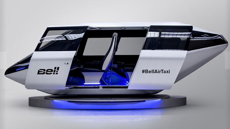 Bell Helicopter showed the cabin for their flying taxi concept at CES 2017. Photo: Bell Helicotper