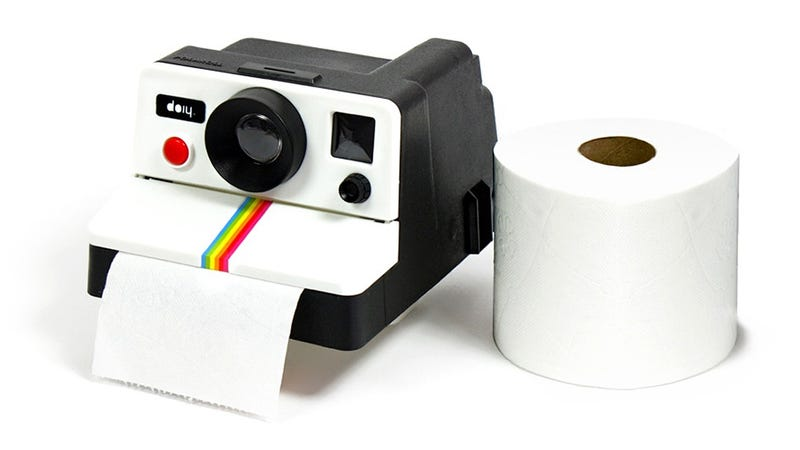 Illustration for article titled Polaroid Toilet Paper Holder Captures Memories You Don't Want To Keep