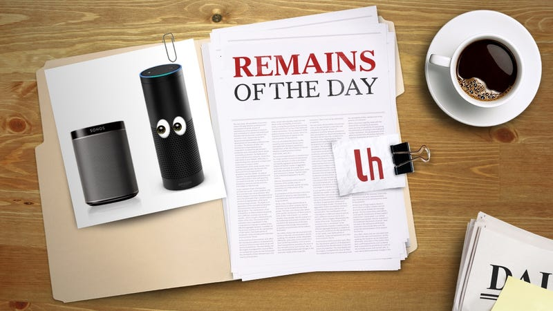 Illustration for article titled Remains of the Day: Sonos Speakers to Get Voice Control With Amazon Echo
