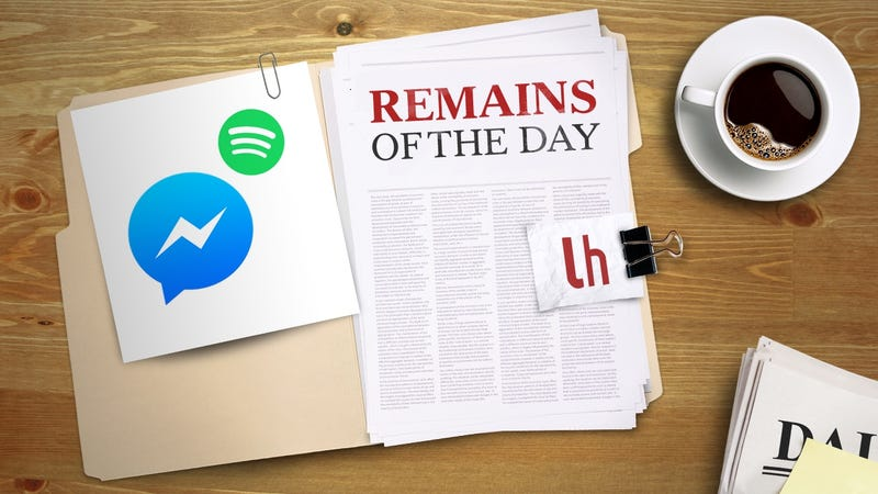 Illustration for article titled Remains of the Day: Facebook Messenger Adds Spotify Song Sharing