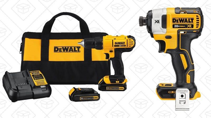 DEWALT 20V Drill/Driver Kit + Hammer Driver, $169