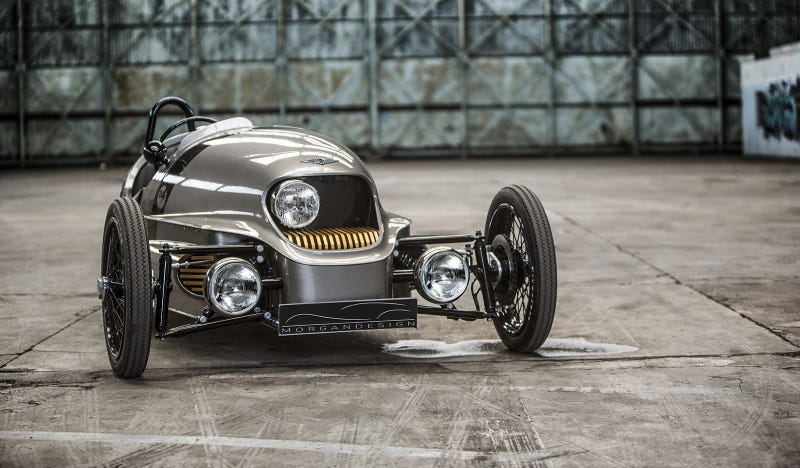 Illustration for article titled The Morgan EV3 Is The All-Electric 3-Wheeler Of Future Past