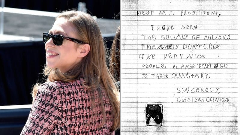 Illustration for article titled 5-Year-Old Chelsea Clinton Wrote Letter toPresident Reagan Urging Him Not to Visit Nazi Graves