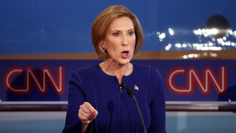 Illustration for article titled GOP Promotes Carly Fiorina To Male Candidate After Strong Debate Showing