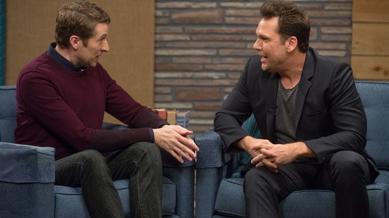 """Illustration for article titled Comedy Bang! Bang!: """"Dane Cook Wears A Black Blazer And Tailored Pants"""""""