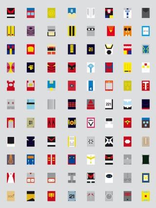 Illustration for article titled Your favorite friendly robots, reinterpreted as 88 minimalist squares