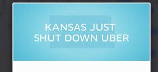 Illustration for article titled Uber Shuts Down In Kansas Because Of Stricter Background Checks