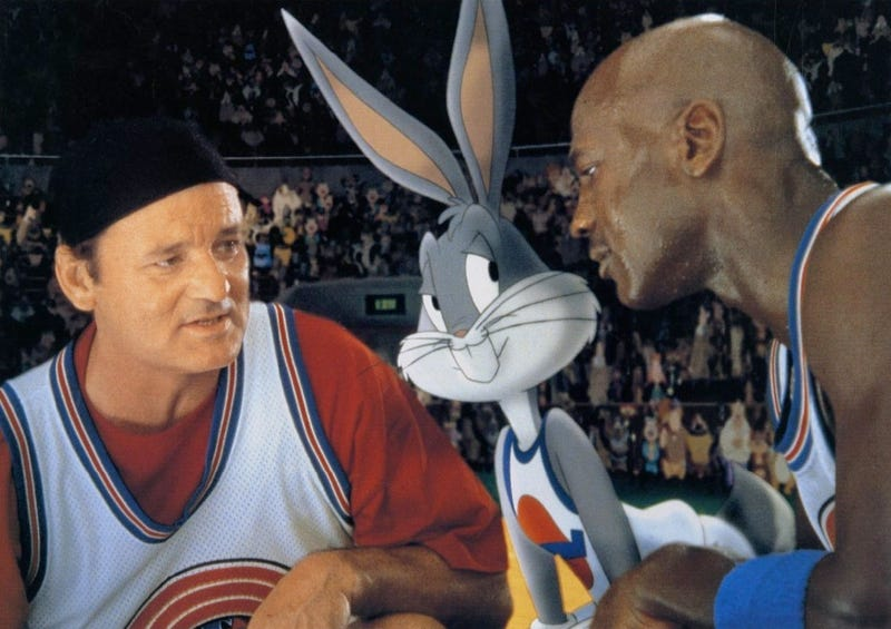 Illustration for article titled Michael Jordan's Big Space Jam Win Gets a Gloriously Fake Documentary