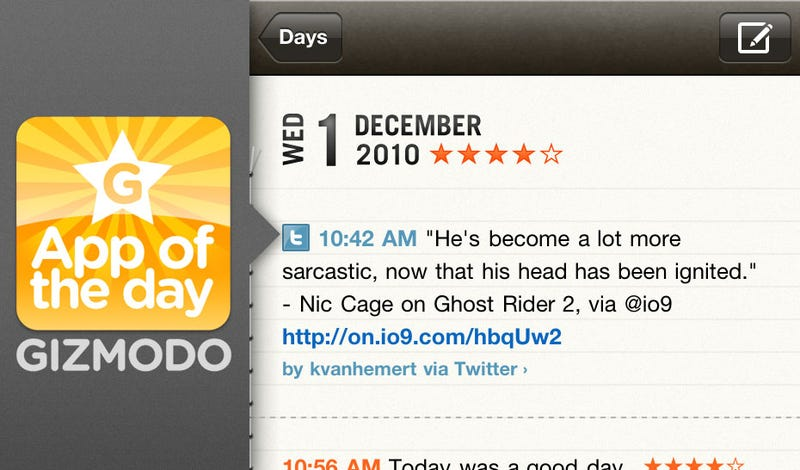 Illustration for article titled App of the Day: Momento for iPhone