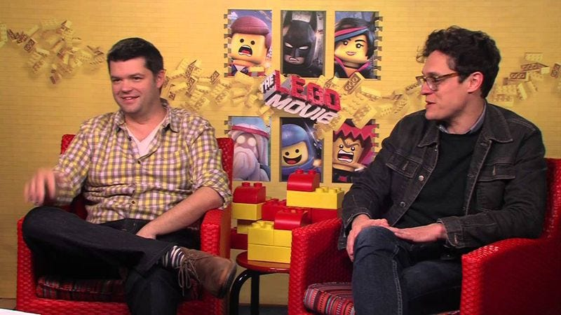 Phil Lord and Chris Miller promoting The Lego Movie