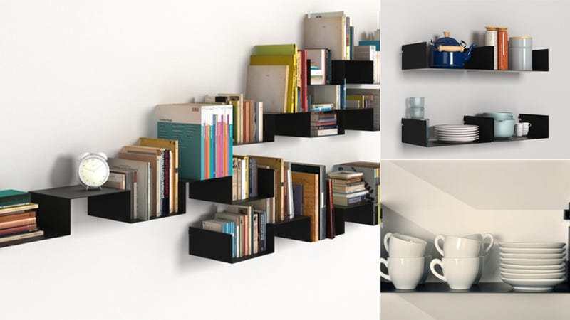 Illustration for article titled The Infinitely Arrangeable Wall Shelf