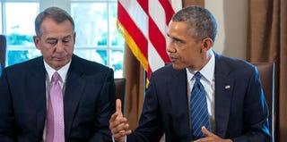 Speaker of the House John Boehner and President Barack Obama (Jim Watson/Getty Images)
