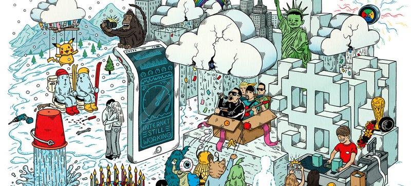 Illustration for article titled Can You Spot 20 Things That Happened on the Internet in 2014?