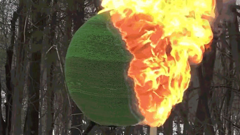 photo image Man Spends Months Building a Giant Sphere of Matches and Then Spectacularly Sets It on Fire