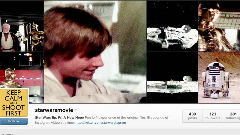 Some Brilliant Lunatic Is Posting All of Star Wars to Instagram Video