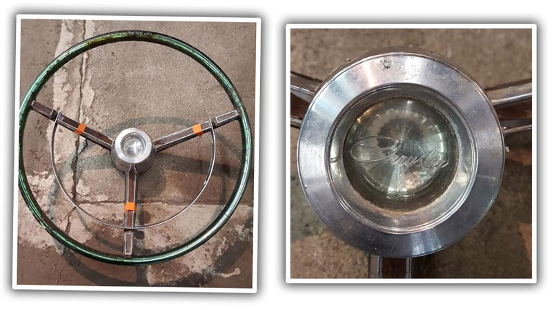 Illustration for article titled Can We Help ID This Mystery Mopar Steering Wheel?