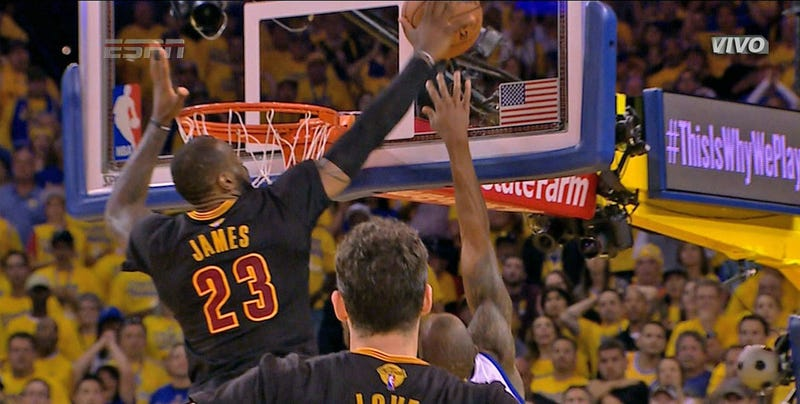 Image result for lebron james block