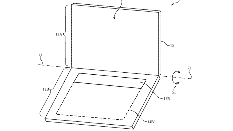 This is rudimentary drawing of what Apple's dual-screen device might look like.