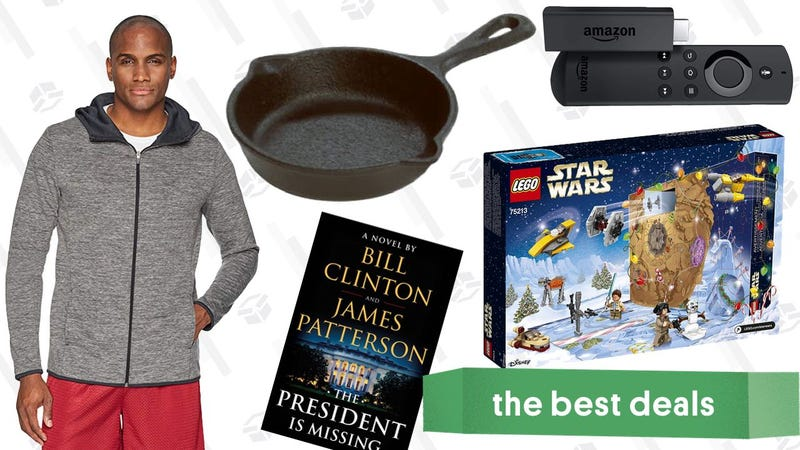 Illustration for article titled Sunday's Best Deals: LEGO Star Wars, Amazon Essentials Clothes, Mini Skillet, and More