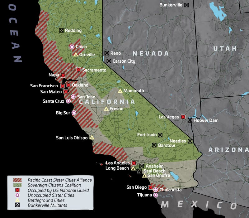 Calexit Is A Bloody Dystopian Vision Of Trumps America And The - Dystopian us map