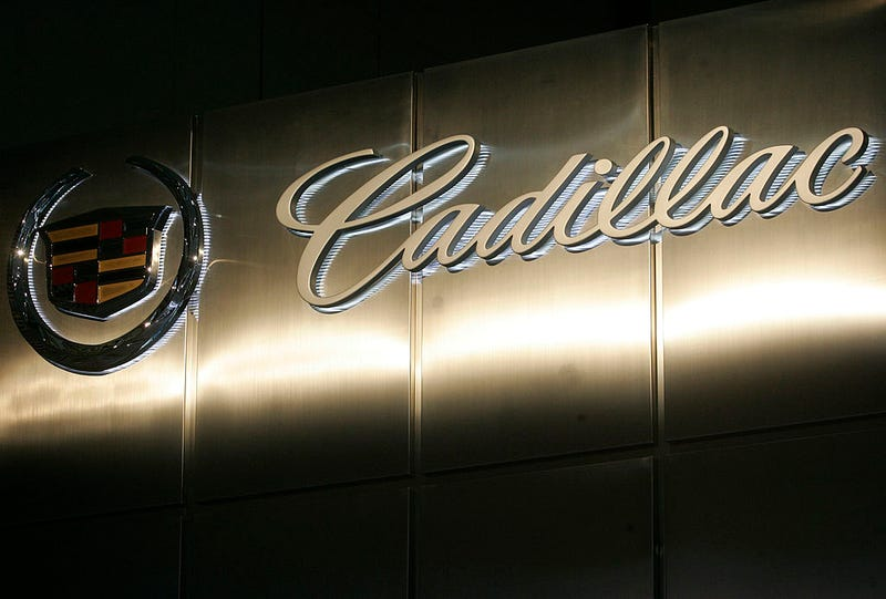 The Cadillac corporate logo  (Photo by Mark Renders/Getty Images)
